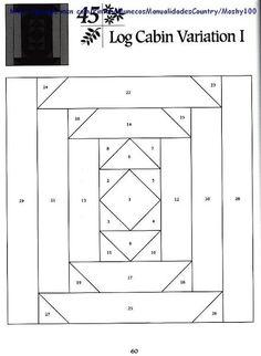 Great border idea or strips for Mick's quilt  Log Cabin Variation 1