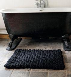Modèle tapis de bain en tissage - Modèles tricot accessoires - Phildar