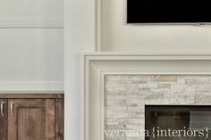 veranda interiors | contemporary fireplace surround