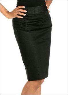 Diy black pencil skirt