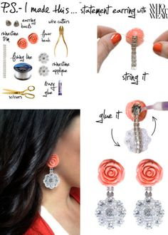 P.S.- I made this...Statement Earring  #DIY #PSIMADETHIS #EARRINGS