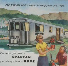 Vintage 1950s ads | Vintage ad - Spartan Homes - 1950s mobile homes - Tulsa Oklahoma