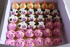 Barnyard Animal Cakes, Cupcakes, and Cookies