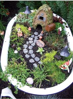 Fairy Garden, cute idea for the kids.