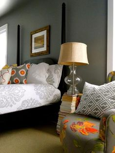 our bedroom   redesign company wall color cityscape by sherwin williams