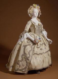 costum, baroque, woman robe, 18th centuri, bobbin lace, dress, art, sack gown, la francais