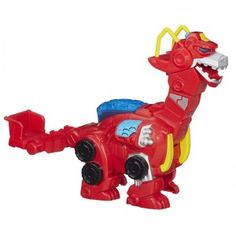 The Transformers Rescue Bots Heatwave the Rescue Dinobot, part of Hasbro's Playskool Heroes line, features the Rescuebot Heatwave that has rescanned into dino mode with lights and sounds.