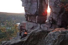 Want to see this breathtaking view? Visit Devil's Lake State Park in Baraboo, Wisconsin for your own picturesque moment.