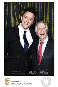 Henry Winkler (AKA The Fonz) larks about in our TwitterBox with comedian Peter Serafinowicz at the British Academy Children's Awards