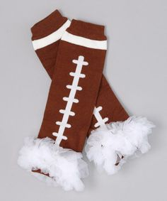Brown & White Football Ruffle Leg Warmers by Tutus by Tutu AND Lulu on #zulily