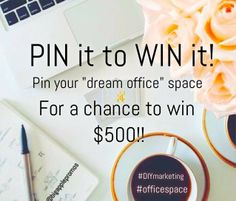 """This June, in honor of """"Do It Yourself"""" Marketing Month, 'Pin It To Win It! – Dream Office Give-Away,' a contest giving consumers a chance to win a $500 gift card. #DIYmarketing #officespace"""