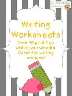Writing Papers - collection of writing worksheets to use for writing centers, daily 5, and much more!!