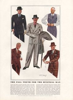 Four page Men's Fashion article from 1934 by catchingcanaries, $9.00