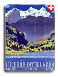 a vintage tourism ad for Interlaken/Switzerland