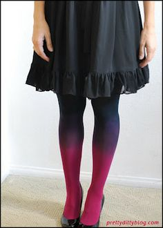 DIY Ombre Tights - I want to try this!