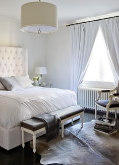 Elements of a glamorous bedroom...