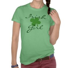 Irish Girl Women's St. Patrick's Day Green T-shirt