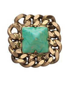 http://www.maxandchloe.com/Elizabeth-Cole-Turquoise-Howlite-Pyramid-Esme-Stud-Earrings