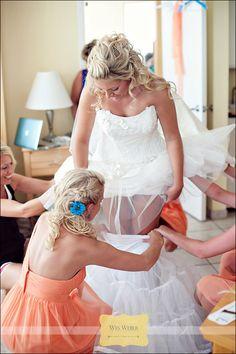 Romantic, beach wedding hair!    Hair by KyleLynn Weddings.  Photo by Weber Photography.
