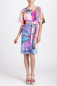 Pink Painted Shift #anthropologie