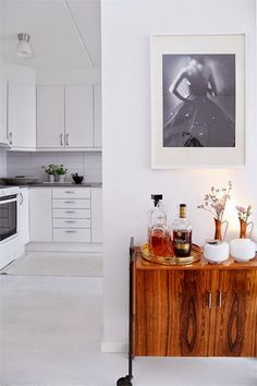 kitchen colors, bar cart, white kitchens, kitchen tiles
