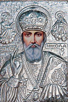 greek religious icon. St. Nicholas
