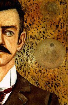1951 Frida Kahlo Portrait de mon père, le mur, Portrait of my father, the wall. #Art #Mexico #deFharo