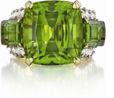 Marlene Stowe peridot and diamond ring