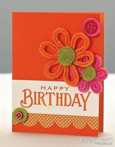 Orange Birthday Card