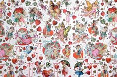 Valentine angels paper, made in Germany