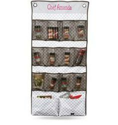 Use a Hang-Up Space Saver to organize spices and seasonings.