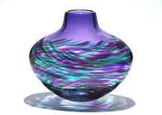 Flattened Vortex Vase: Purple: Michael Trimpol, Monique LaJeunesse