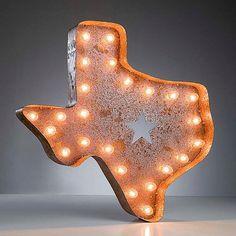 Vintage Marquee Lights - Texas