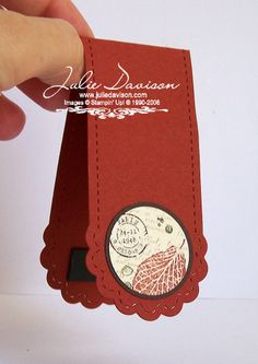 Julie's Stamping Spot -- Stampin' Up! Project Ideas Posted Daily: French Foliage Bookmark Card