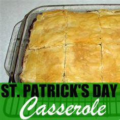 St. Patrick's Day Casserole! #recipe #holiday #st.patricksday