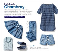 Love chambray on little girls! http://rstyle.me/n/et767nyg6