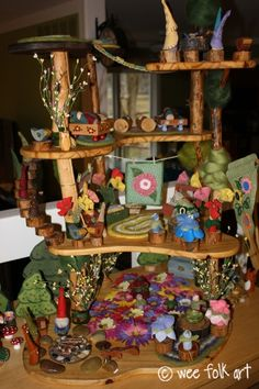 Love this gnome home on Wee Folk Art