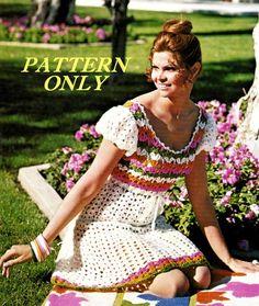 dress patterns, crochet retro patterns free, mini dresses, dress crochet, pattern vintag