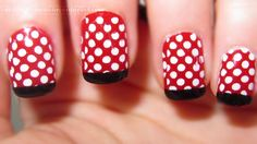 I remember when I used to paint my toe nails like this.  Wish those Sally Hanson stickers had polka dots as an option.