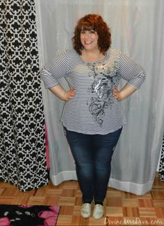 What I Wore: Fat Girls Can Definitely Wear Stripes  by Discourse of a Divine Diva