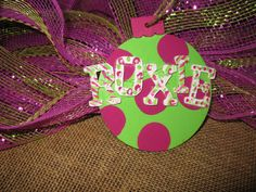 Christmas Ornament In Whismical Colors Wood by TallahatchieDesigns, $5.50