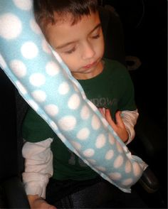 Seat Belt Pillow...thanks to Living Life and Loving Every Second for passing along this DIY post
