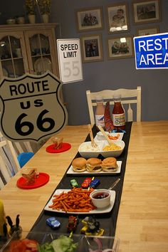 Disney Cars party decor... Route 66 sign is a must!