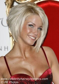 Sarah Harding with a short bob tapered up at the back, very cute...