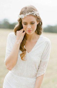 IVY pearl and crystal bridal headpiece
