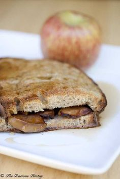 Clean Eating Apple Stuffed French Toast  www.TheGraciousPantry.com