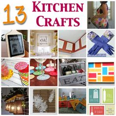 13 Kitchen Crafts You Will Love @CraftBits & CraftGossip