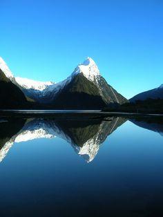 Mitre Peak is in Milford Sound, NZ