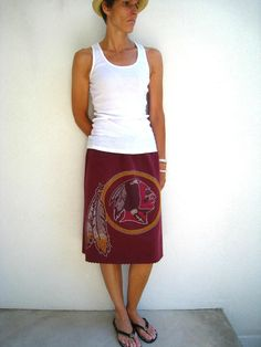 Washington Redskins T Shirt Skirt