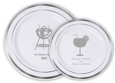 Design Your Own Elegant Premium Plastic Plates with Gold or Silver Edge